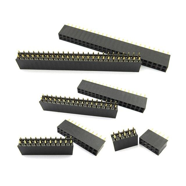 1.27mm 1.27 Double Row Female 3~50P Breakaway PCB Board Pin Header socket Connector Pinheader 2*3p 2*10p 2*6 2*20 2*12 2*25