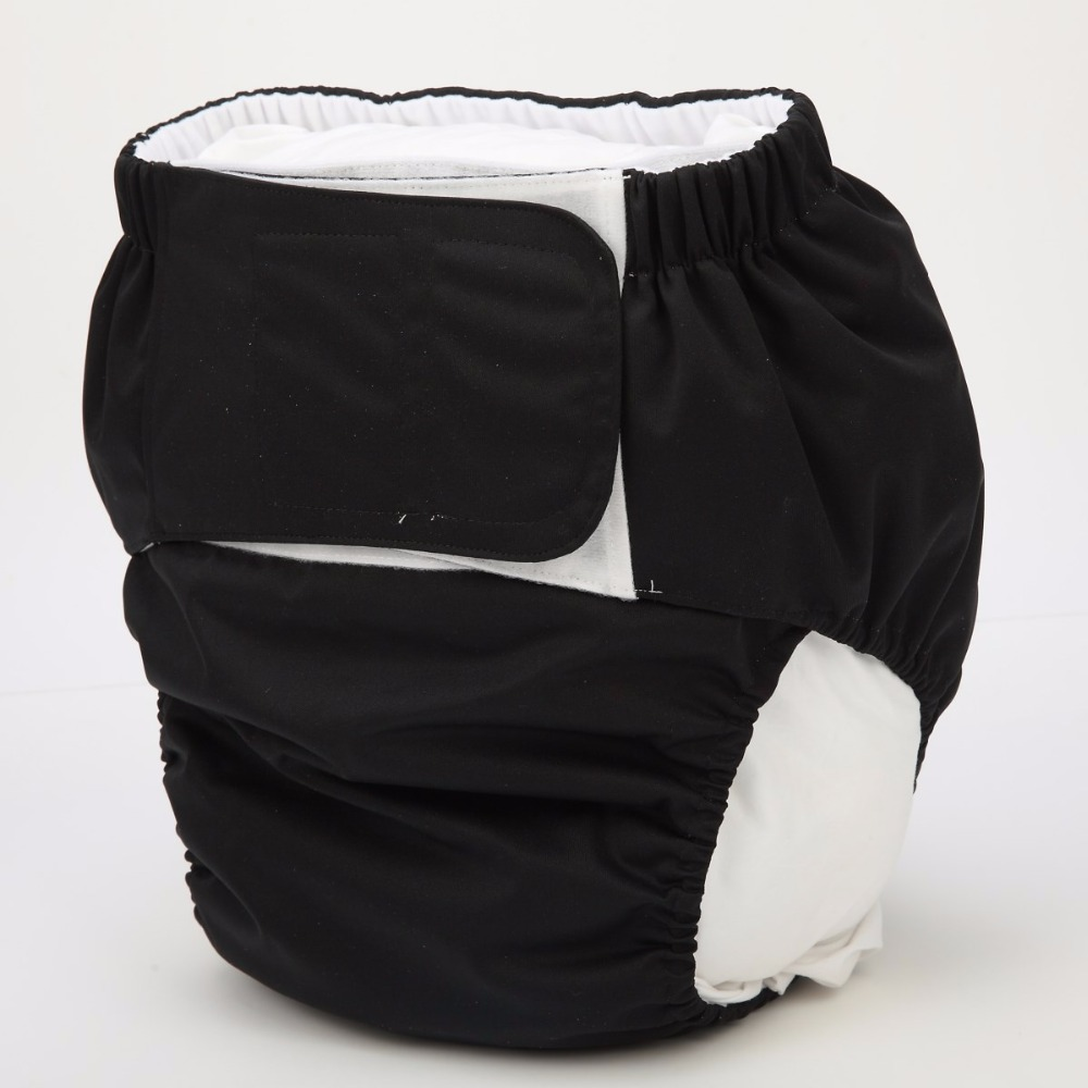 Sigzagor 1 XL Adult Cloth Diaper Nappy Urinary Incontinence Pocket Reusable Insert Hook and Loop