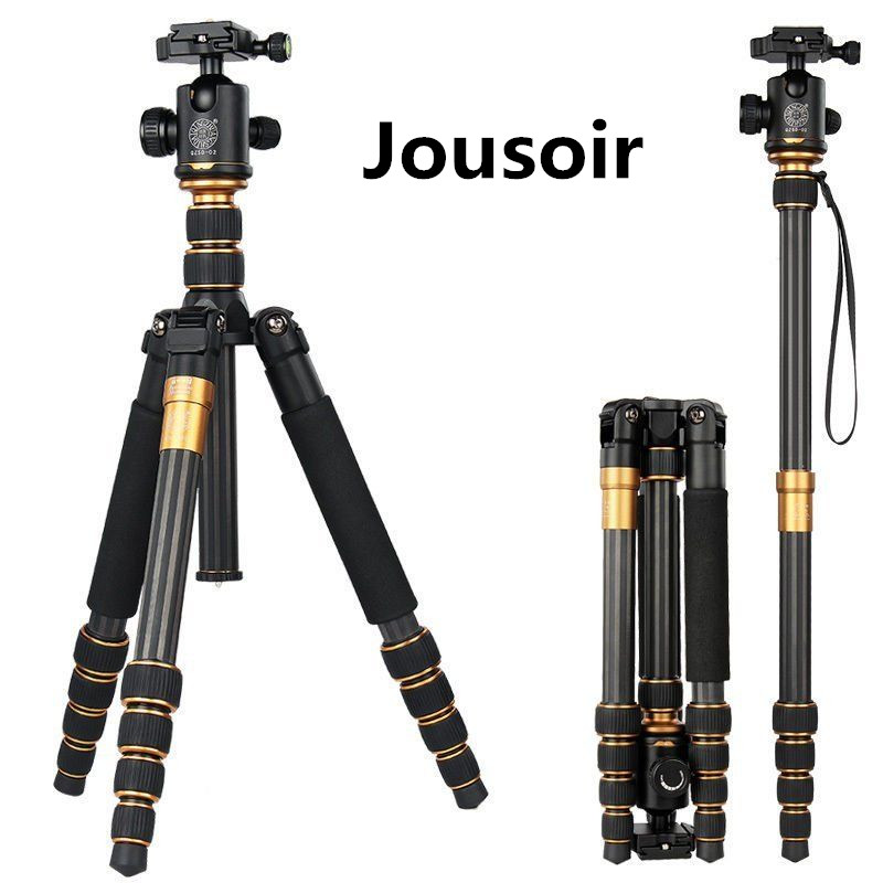 Здесь можно купить  Lightweight Portable  Q666C Professional Travel Camera Tripod aluminum/Carbon Fiber tripod Head for digital camera CD50  Бытовая электроника