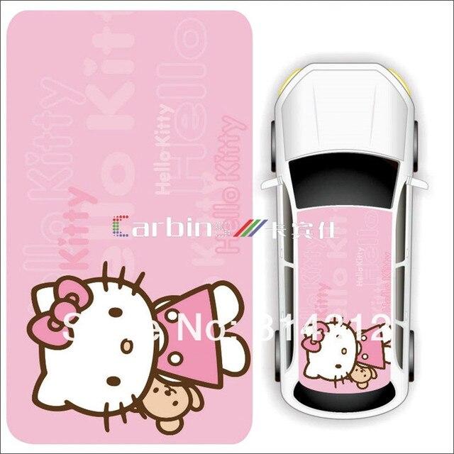 Cartoon Design Car Mini Roof Adhesive Sticker Hello Kitty Car Roof
