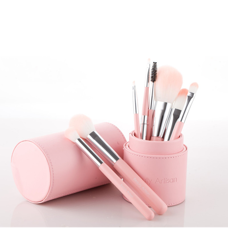 2017 Professional Craftsman fiber Beauty tools makeup brush set Cosmetic brush bucket with box multicolor free shipping S572