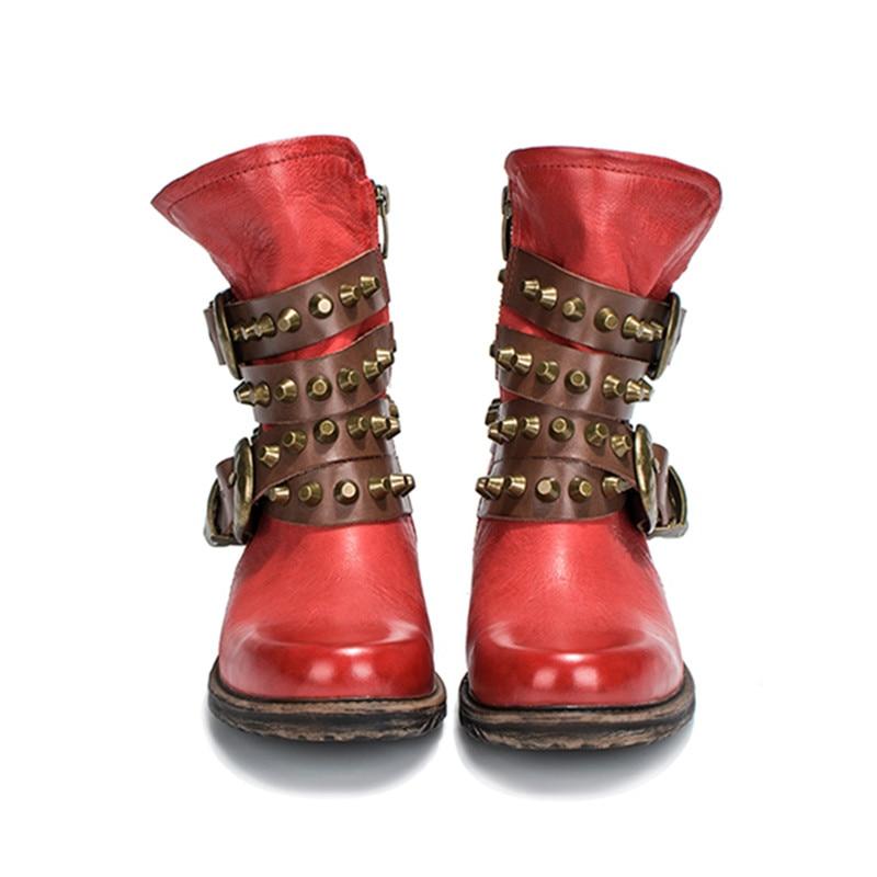 Rouge red Bottes Chaussons Gladiateur Caoutchouc Femme black Prova forme Hiver Automne Plush D'équitation En Court Chaussures Main Plate Lining Perfetto Noir Femmes red Lining Bottines hQrBtdxsC