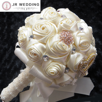 Gorgeous Crystal Wedding Bouquet Ivory Brooch Bouquet Wedding Accessories Bridesmaid Artifical Wedding Flowers Bridal Bouquets