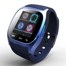 2016 Bluetooth font b Smartwatch b font M26 Pedometer Fitness Tracker Waterproof Dial SMS Remind Touch