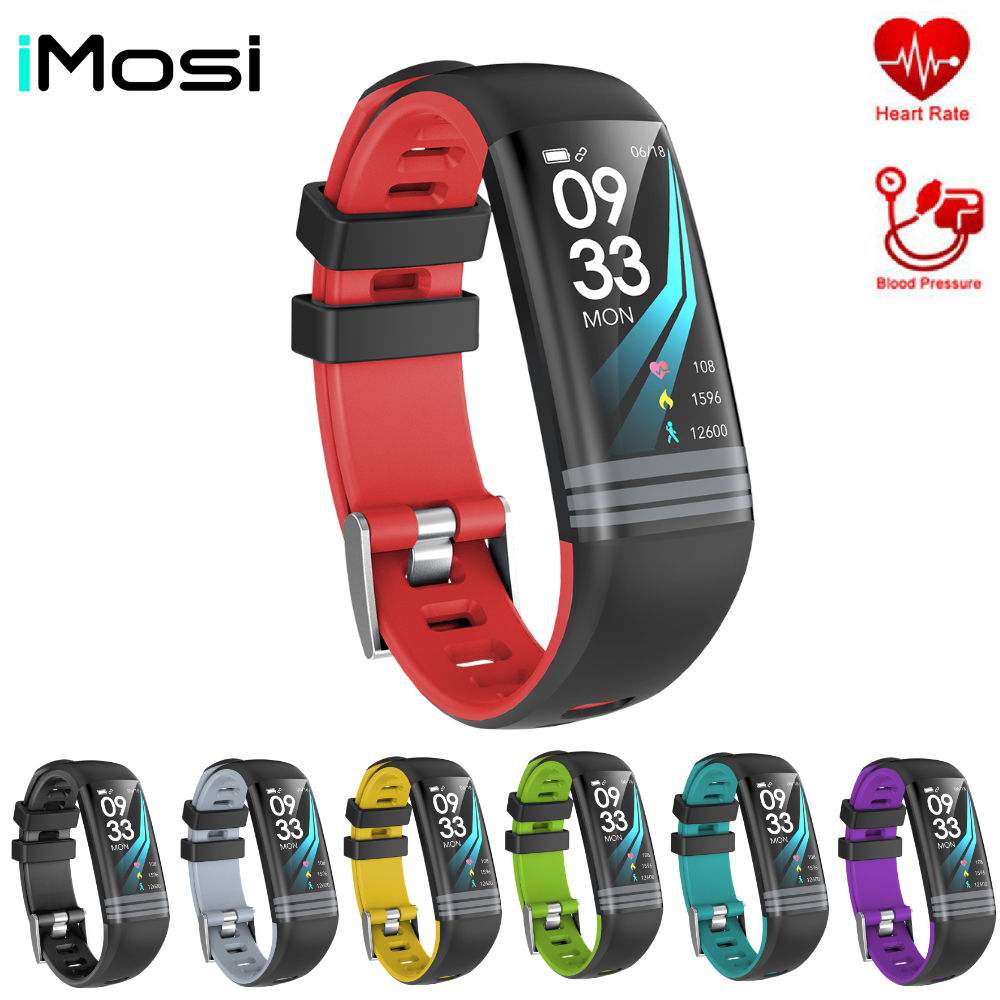 Smart Fitness Bracelet Continuous Heart Rate Monitor Blood Pressure Fitness Tracker Color Screen Smart Watch Men