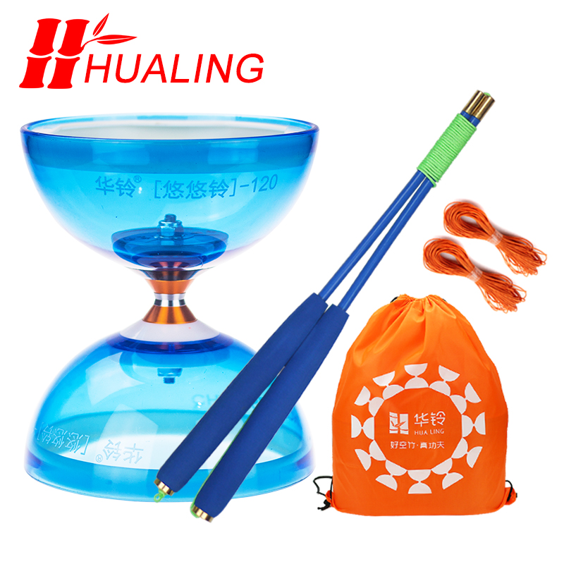 chineseyoyo Bearing diabolo juggling Toys Professional Diabolo Set Packing  6 Color for choose with String Bag