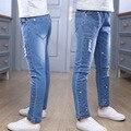 Pantalones Vaqueros de las muchachas Ropa de Los Niños 4 6 8 10 12 Años primavera Otoño Casual Jeans Para Niñas Pantalones de Mezclilla Para Las Niñas pantalones