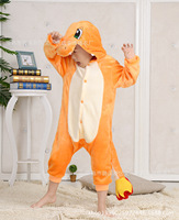 Freep Anime Pokemon Charizard Jumpsuit Pajamas Pyjamas Costume Charmander Fire Dragon Child Unisex Onesie Party Kids