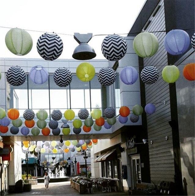 Lanterne ronde étanche en Nylon 10 pouces (25cm) | 15 pièces par lot, suspension uniforme, décorations dextérieur pour mariage ou fête, livraison gratuite