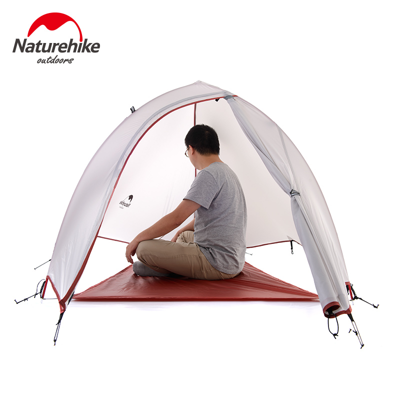 4 seasons Outdoor Portable Double-layer Camping Tent Camouflage for 1 Person Lightweight Waterproof PU8000mm -NatureHike 4