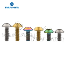 Wanyifa Titanium Bolts M6 x 12 15 20mm Umbrella Head Screw for Bicycle Motorcycle Bolt