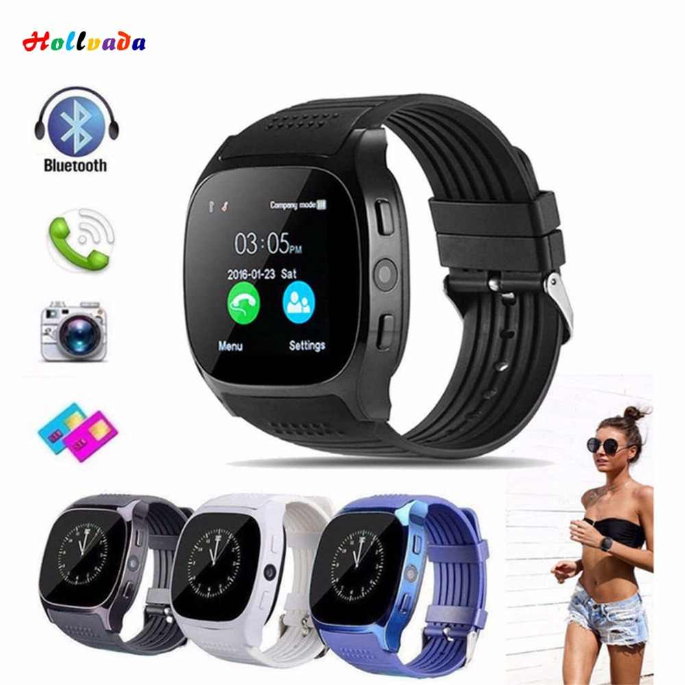 Novo smartwatch inteligente bluetooth esporte relógio inteligente t8 pedômetro para telefone android relógio de pulso apoio sim tf cartão chamada