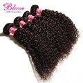 Beauty forever pelo productos brasileños de la virgen rizada extensiones de cabello 3 unids/lote, 7A en Bruto Brasileño Bundles Cabello Humano