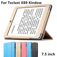Case For Teclast X89 Kindow Protective Smart cover Faux Leather Tablet PC For X89 Kindow Protector Sleeve 7.5 inch Cases Cover