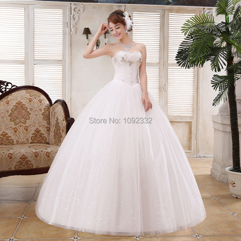 S Stock 2016 New Plus Size Women Ball Bridal Gown Brief: Z 2016 Wedding Dress Plus Size Bridal Gown New Stock Slim