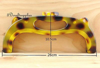 Purse frame 10 inch x 4 inch ( 26 cm x 10.5 cm ) Acrylic Resin Y10