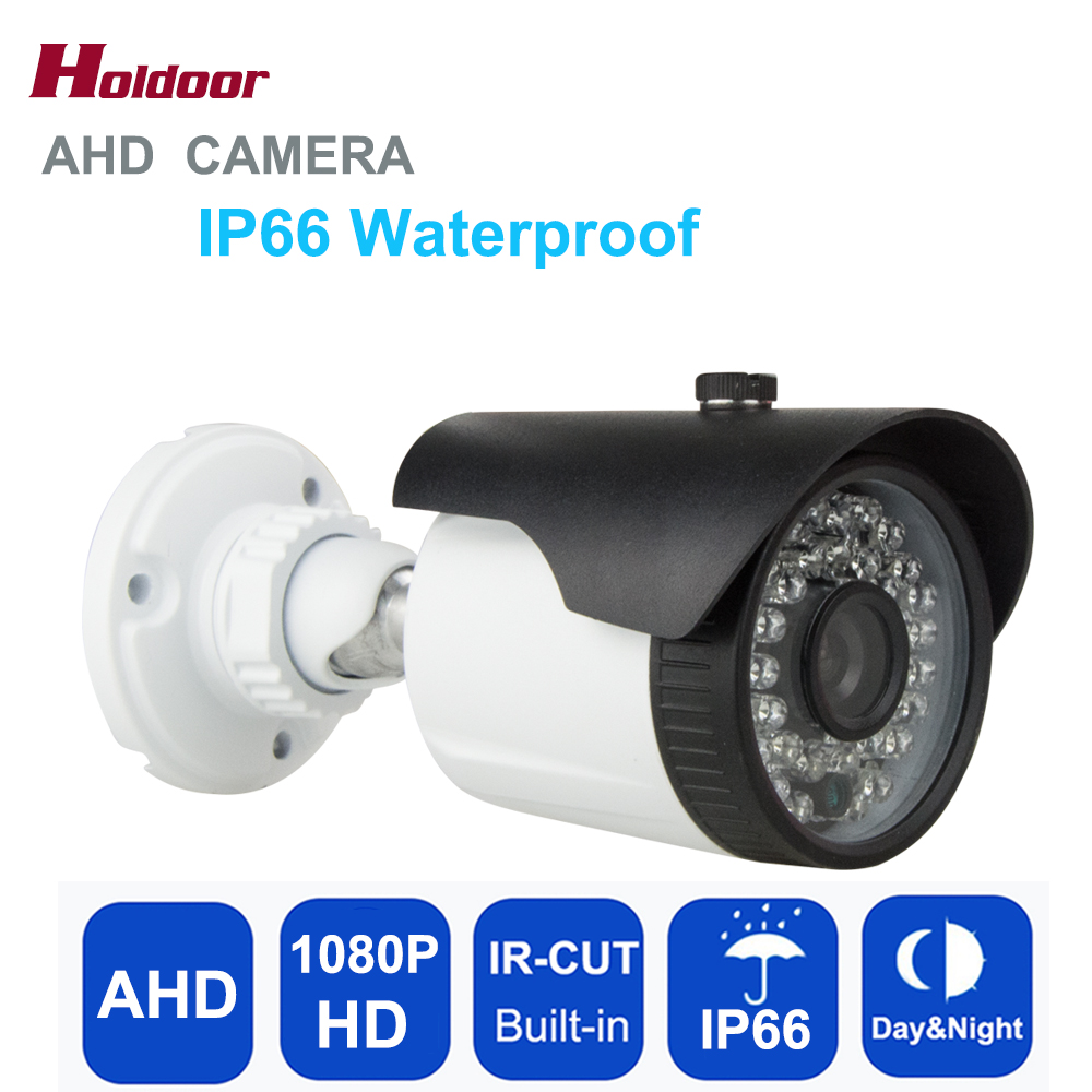 Holdoor 2.0MP HD 1080P AHD Camera Security Camera Surveillance Outdoor IP66 Waterproof IR-cut infrared night vision CCTV Camera small mini metal 1200tvl cctv security surveillance hd camera ir cut infrared night vision metal waterproof ip66 color home cam