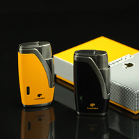COHIBA Gadgets Metal 1 Jet Flame Cigar Cigar Lighter Refillable Butane Gas Torch Lihter Smoking Fire