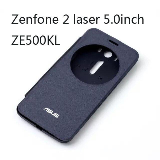 online store 9bfff 22c25 US $6.49 |Smart Flip Leather Case battery housing For Asus Zenfone 2 Laser  ZE500KL ZE500KG (5.0 inch) with window sleep/wake up on Aliexpress.com | ...