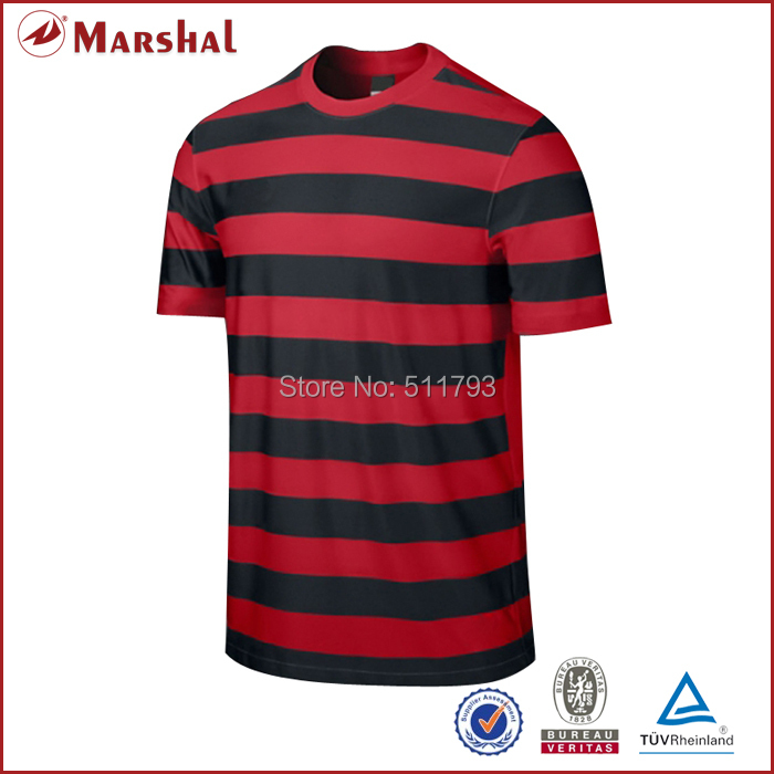 OEM/ODM 100%polyester Custom Soccer Jersey tops with strips personalized team logo number Dry fit Adult round neck