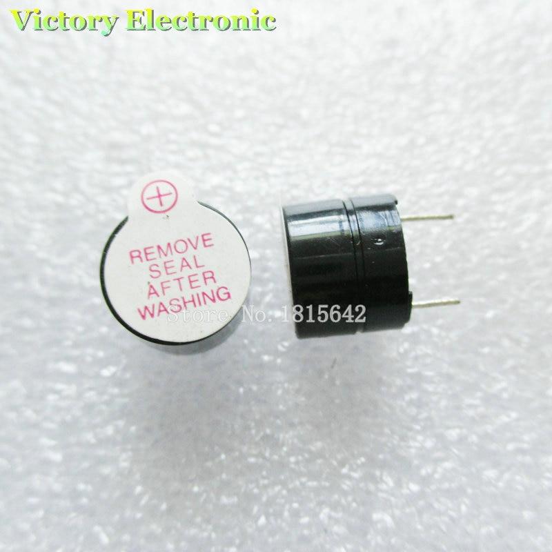 10PCS/Lot 3V Mini Magnetic Active Buzzer Alarm Ringer Black INGT 9.6mm New