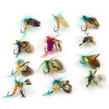 12pcs/Lot Fly Fishing Lure Wobbler For Fishing Lures Pesca Isca Artificial Fish Baits Hook Squid Jigs Spinner Bait Soft Lure 50pcs lot 2cm lures soft bait 9 colors fishing lure soft fishing baits silicone bait worms fishing lure with hot lc004