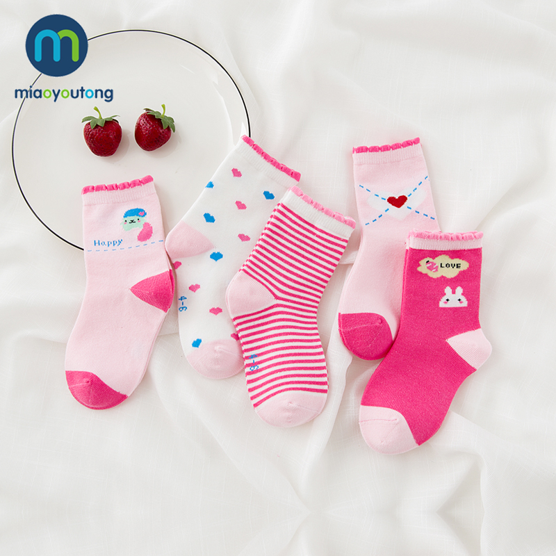 10 Pieces/lot 5pair Unisex Skarpetki Newborn Sock Kids Boy Pink Rabbit Knit Cotton Soft Baby Socks Lovely Girl 2019 Miaoyoutong