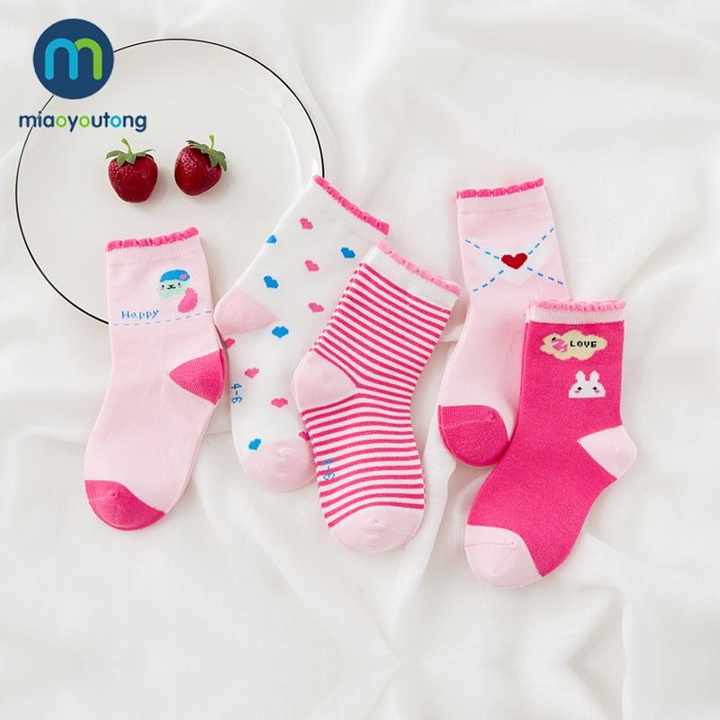 10 Pieces/lot 5pair Unisex Skarpetki Newborn Sock Kids Boy Pink Rabbit Knit Cotton Soft Baby Socks Lovely Girl 2019 Miaoyoutong