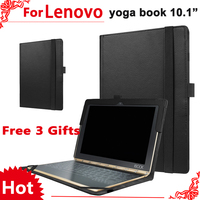 Case For Lenovo Yoga Book 10 1 Magnetic Pu Leather Stand Protective Cover For Lenovo Yoga