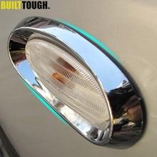 Для Nissan Qashqai Dualis 2010 2011 2012 2013 Chrome Боковая светильник Поворотная сигнальная лампа накладка стайлинга автомобилей комплект Стикеры аксессуары