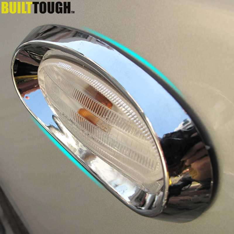 For Nissan Qashqai Dualis 2010 2011 2012 2013 Chrome Side Light Turn Signal Lamp Cover Trim Car Styling Kit Sticker Accessories