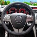 Черный Кожаный Ручной работы Крышка Рулевого Колеса Автомобиля для Mazda 6 2009