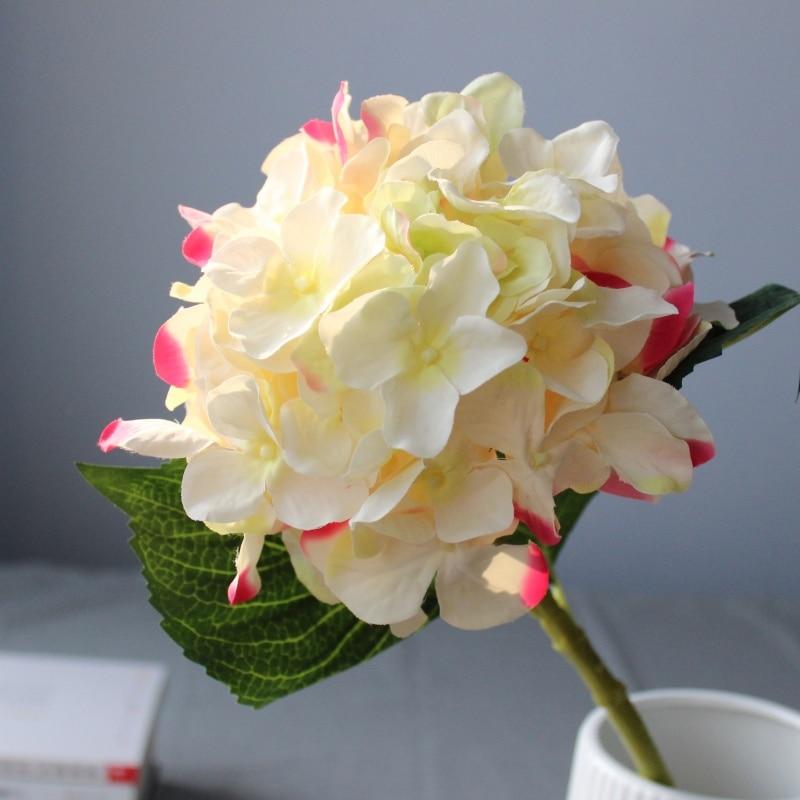 3PCS lepo hortenzija umetno cvetje svilene rože domače dekoracije - Prazniki in zabave - Fotografija 1