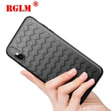 RGLM Super Soft Phone Case For iPhone 8 X XS Max Luxury Grid Cases 6 6s 7 Plus XR Cover Silicone Accessories