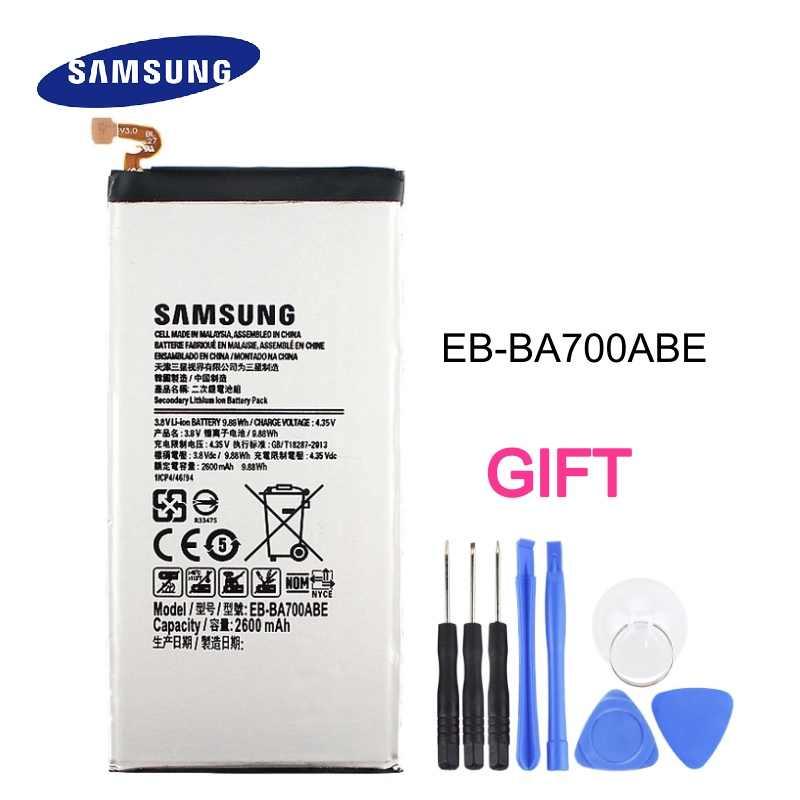 EB-BA700ABE بطارية لأجهزة سامسونج غالاكسي A7 2015 A700 A700FD A700S A700L استبدال تبديل البطارية الهاتف بطارية 2600 mAh
