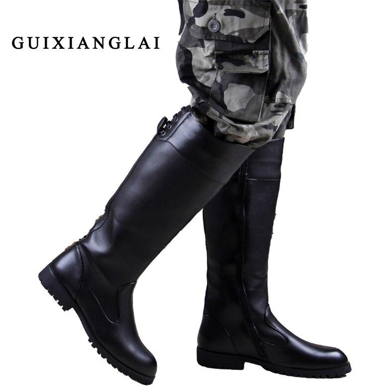 мужская колено высокие сапоги