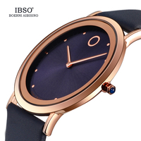 IBSO 7.6MM Ultra Thin Women Watches Top Brand Luxury Quartz Watch Ladies Leather Wrist Watch Reloj Mujer 2019 Montre Femme #8160