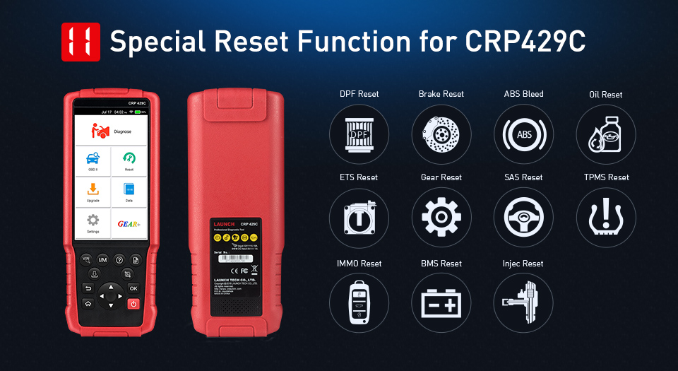 laucnh crp429 CRP429C