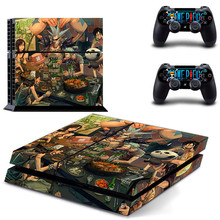 HOMEREALLY Stickers Anime One Piece Cover Decal PS4 Skin Sticker for Sony Play Station 4 Console and Controller ps4 slim skin