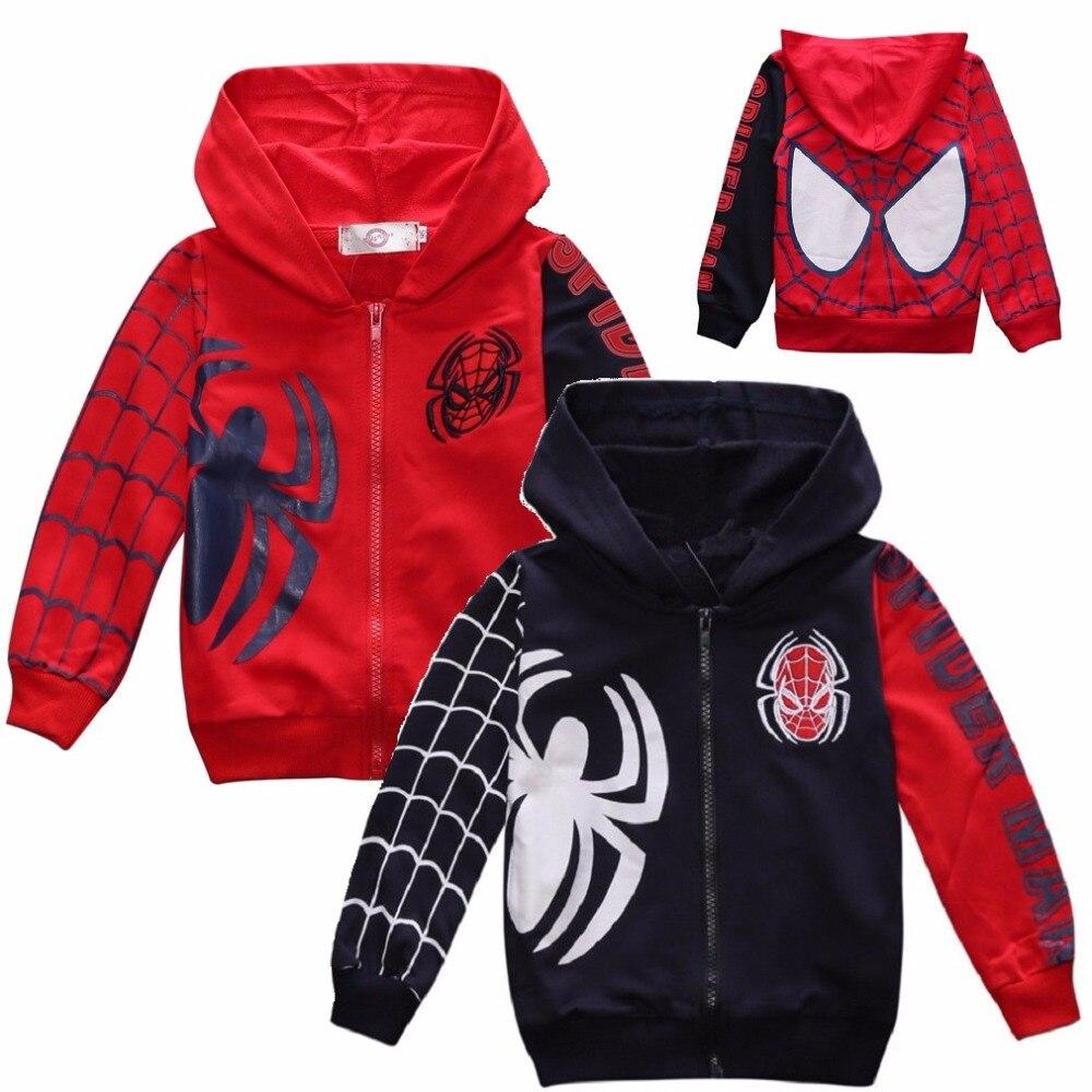 House design kurtki - Hooyi Kostiumy Stroje Sportowe Ubrania Ch Opcy Spiderman Paj K Bluzy Kurtki Dla Dzieci Dzieci P Aszcz Z Kapturem