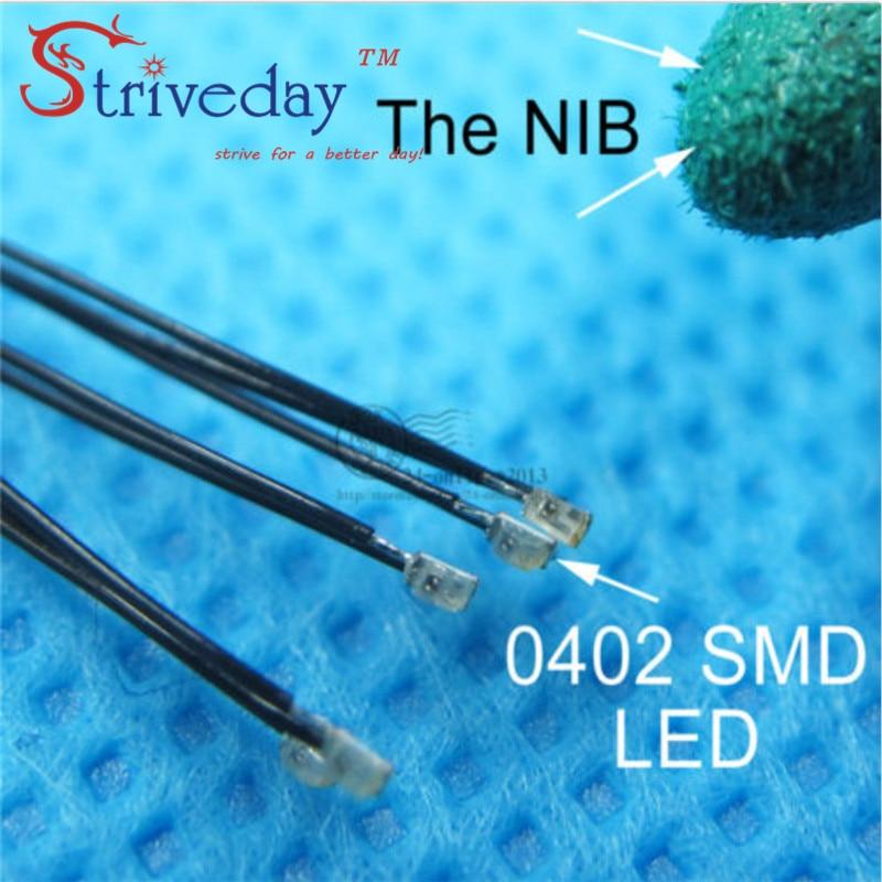 100pcs/lot 0402 SMD Pre-soldered Micro Litz Wired LED Leads Resistor 20cm 8-15V Model DIY