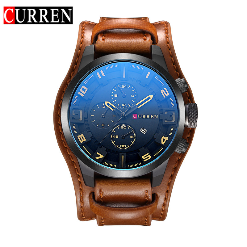 2020 Hot Brand Luxury Men Watch Couple Watch Big DialLeather Strap Sports Military Waterproof Quartz Watches Relogio Masculino