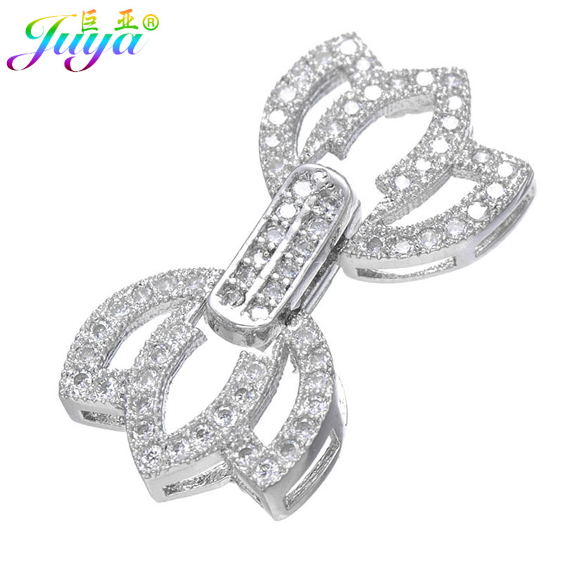 DIY Beads Jewelry Clasps Women Pearls Bracelets Necklaces Making Material Findings Luxury Copper Connector Clasps Accessories