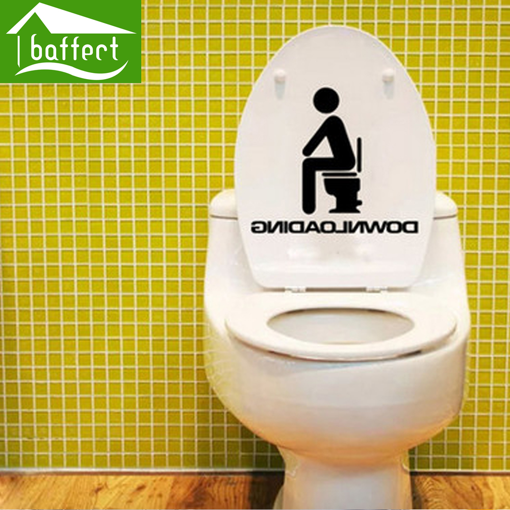 Downloading Removable Wall Decals Cute Pattern Bathroom Toilet Stickers Glass Decoration Stickers Home Decor Art Decals