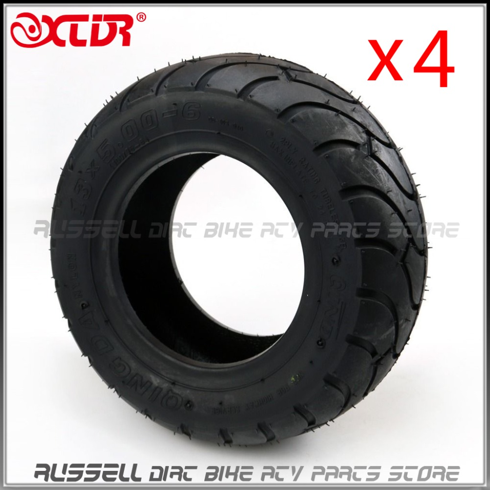 13x5 00 6 Vacuum Tubeless Tire Tyre ATV QUAD Buggy Mower Go kart Buggy 4pcs