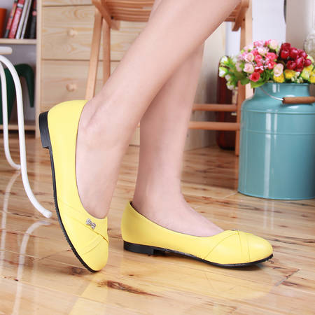 Oxford Shoes For Women Large Size 34-47 Women's Fashion Shoes Woman Flats Spring Female Ballet Metal Round Toe Solid Casual 062 spring autumn solid metal decoration flats shoes fashion women flock pointed toe buckle strap ballet flats size 35 40 k257