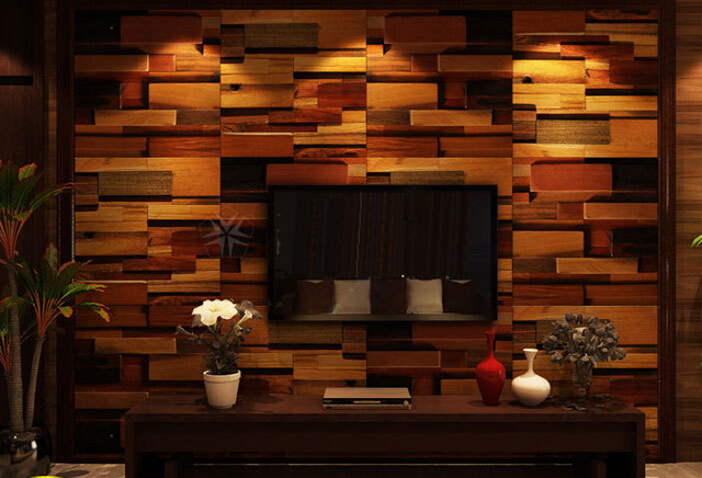 Wood Mosaic Tiles Interior Wall Tiles Tv Background Mosaic Chevron