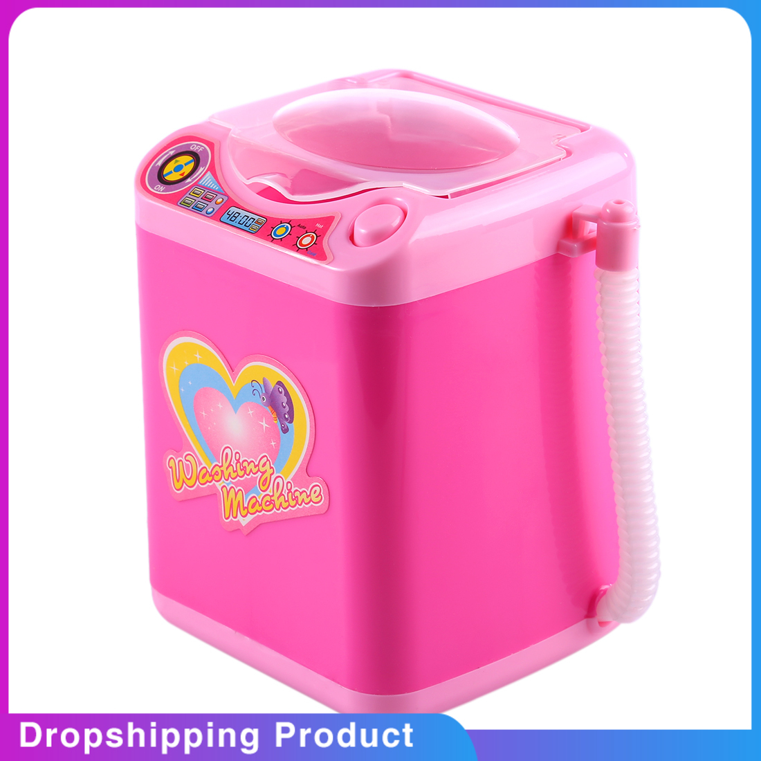 Educational Toy Mini Electric Washing Machine Children Pretend & Play Baby Kids Home Appliances Toy - Pink home appliance