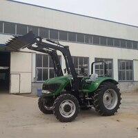 Лидер продаж 100 hp 4 колесный трактор с фронтальной ковшовый экскаватор погрузчик