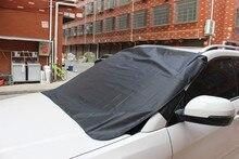 Osłona przeciwsłoneczna do samochodu czarna 1 szt. 150x120cm osłona blokująca osłona na szybę przednią Fornt tylna osłona przeciwśnieżna osłona przeciwsłoneczna parasol przeciwsłoneczny 19Y15